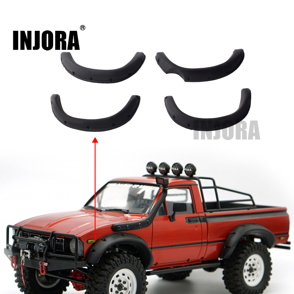 INJORA RC Car 1:10 Scale Rubber Fender Flares For RC Crawler Tamiya TF2 Mojave Body Parts