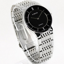 HK Model Good High quality Slim two-pin Vogue Informal Males's Watch lovers Full Stainless Metal watch males girls Gown Watch