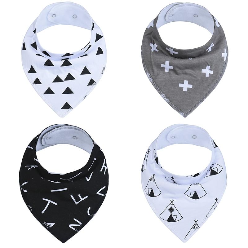1Pcs 37 Styles Baby Bibs Boys Accessories Newborn Girls Burp Bandana Cotton Soft Toddler Triangle Scarf Infant Saliva Towel