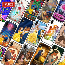 Beauty and The Beast Luxury Case for IPhone X XS 8 7 6 6s Plus Soft Silicone Cover Coque