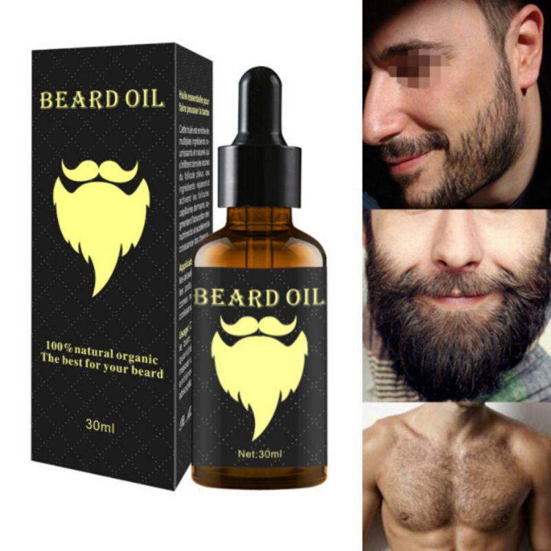 Men Beard Growth Enhancer Ginger Oil Facial Nutrition Moustache Grow Beard Shaping Tool Beard Care 30ml