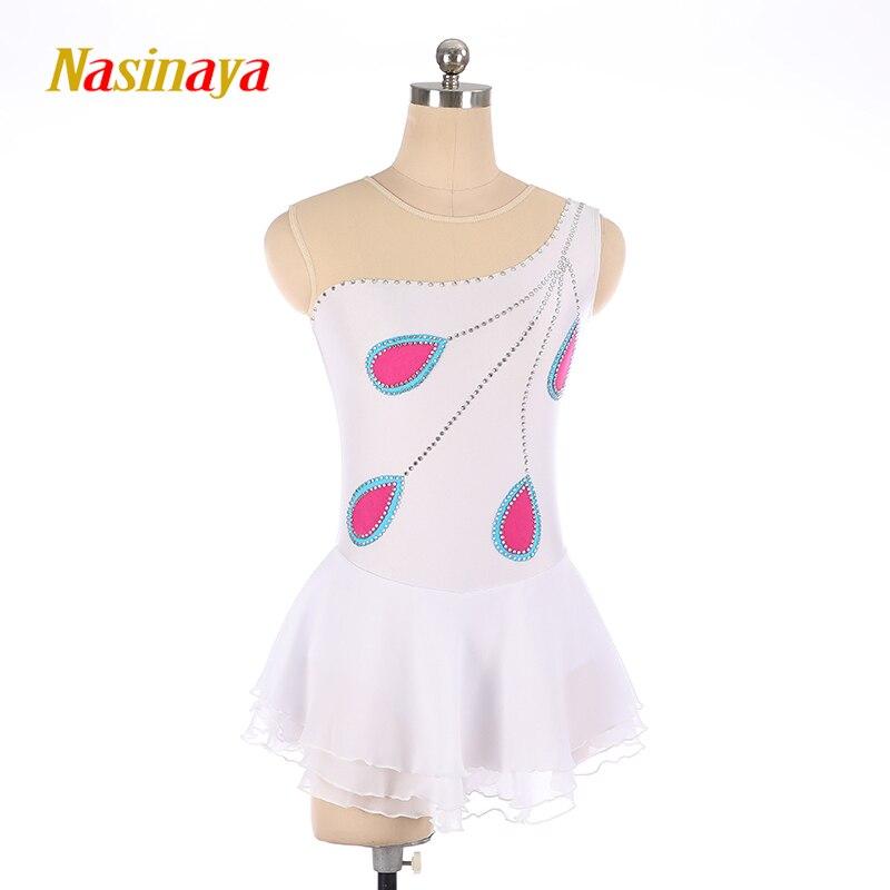 Nasinaya Patinage artistique Robe Personnalisé Concurrence Glace De Patinage Jupe pour Fille Femmes Enfants Patinaje Gymnastique Performance 215