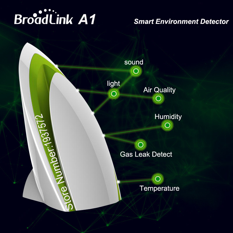 1-Broadlink A1 Air Detector E-air Quality IonizerTesting Air Humidity PM2.5 Remote Control by WIFI Infrared Home Automation System