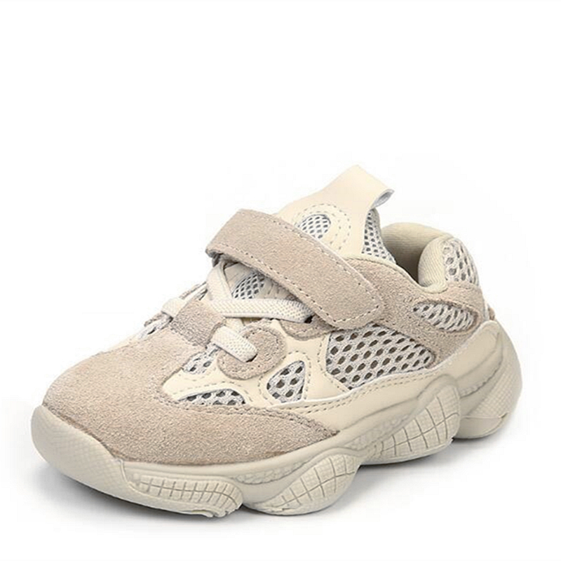Soft Comfortable Children Casual shoes Genuine leather Mesh cloth Breathable Sneakers Boys Girls Baby shoes Kids Sport shoes 02B beedpan children shoes boys sneakers girls sport shoes size 22 30 baby casual breathable mesh kids running shoes autumn winter