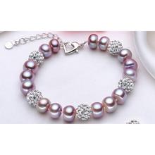 Freshwater pearl bracelet women 925 silver