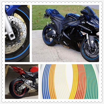 Strips Motorcycle Wheel Sticker Reflective Decals Rim Tape Bike Car Styling For Ducati R 797 Ducati ST4S Scrambler Desert image