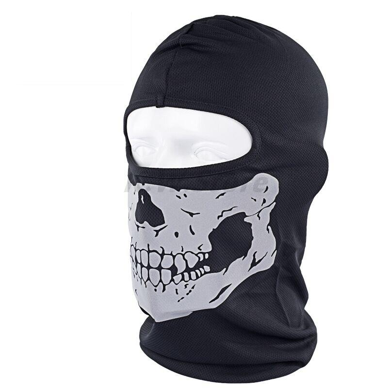 Hot Sale Outdoor Beanie Motorcycle Cap Cycling Wind Dust Full Face Skull Masks Grimace Reflective Hat Ghost Mask Unisex Print