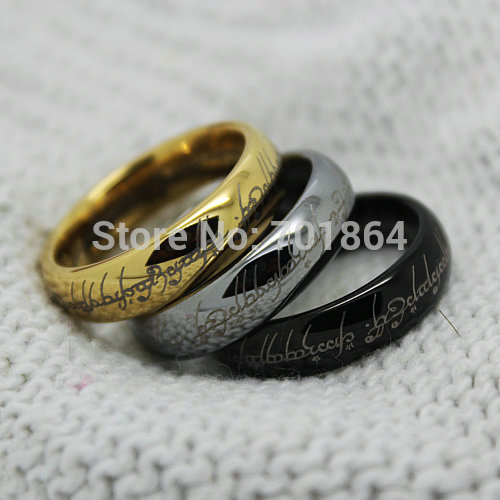 10pcs lot Free Shipping US Size 5 to13 The Tungsten Carbide One Ring Width 6mm Gold