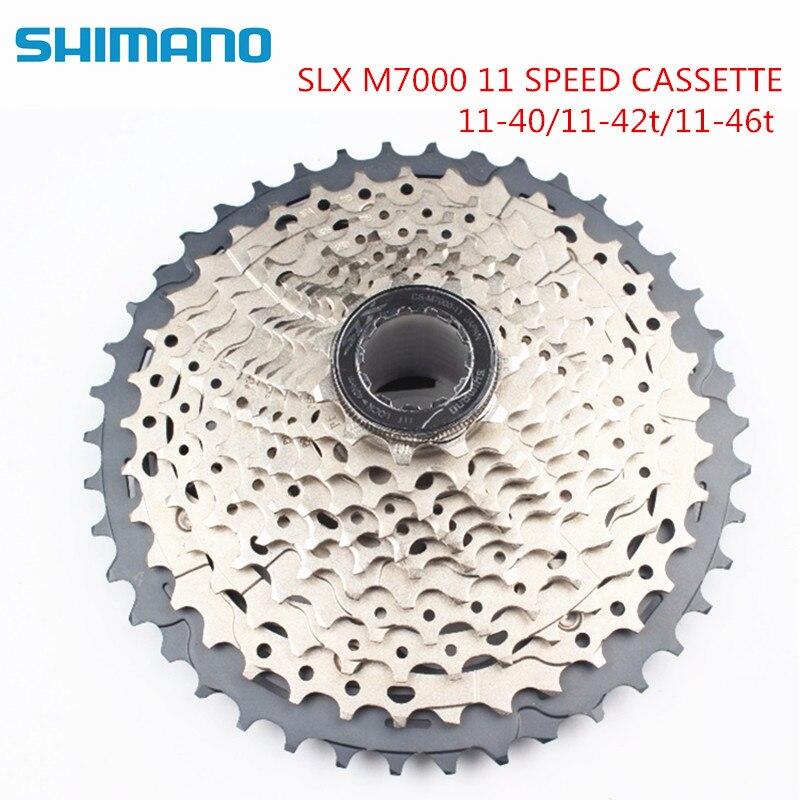 Shimano SLX CS M7000 11 42T 11 Speed Bike Bicycle Cycling 11V Cassette 11 40T 11 42T 11 46T cassette 11 speed M7000 40T 42T 46T-in Bicycle Freewheel from Sports & Entertainment