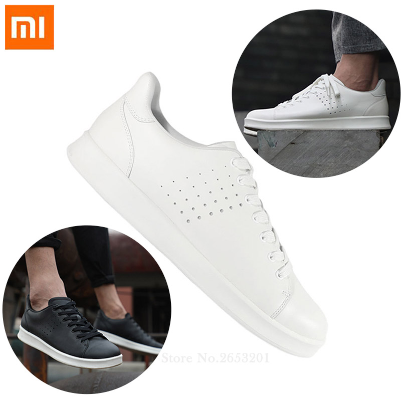 Xiaomi Mija Free Tie Leisure Genuine Leather Shoes Non slip Fashionable Comfortable Breathable Smart Sport Shoes
