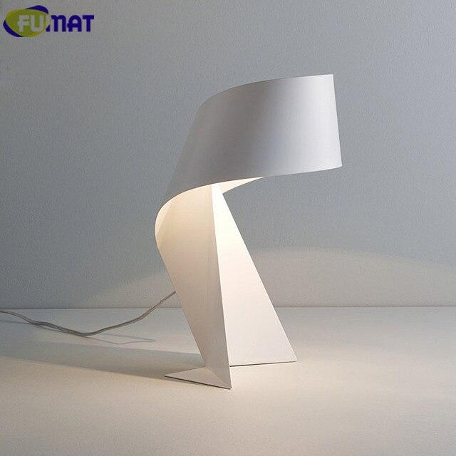 Us 178 29 Fumat Eisen Tisch Schlafzimmer Nachttischlampen Tischleuchte Moderne Wohnzimmer Studie Schreibtisch Lampen Black White Tie Tischlampe In