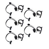 5pcs 2 Pin Headphone Headset Mic TK220 For KENWOOD Baofeng UV 5R BF 888S Retevis H777