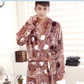 Warm Bath Robe Male Coral Fleece Nightgowns Spa Bathrobe Men Soft Nightwear Robe Man Long Sleeve Kimono Homewear Robes