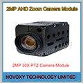 Бесплатная доставка AHD 2-МЕГАПИКСЕЛЬНАЯ 30x Оптический Автофокус Цифровой CCTV Безопасности Купольная Камера Зум Модуль 3.3 ~ 99 мм Объектив