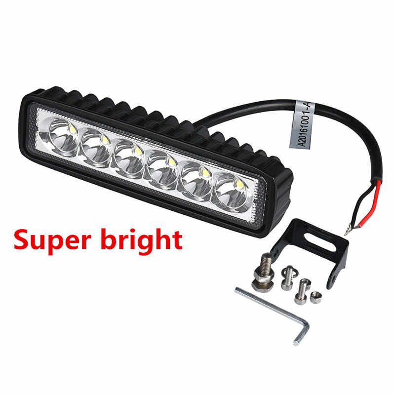 18W LED Light Work Bar Lamp Driving Fog Offroad SUV 4WD Car Boat Truck Car Light dropship j17