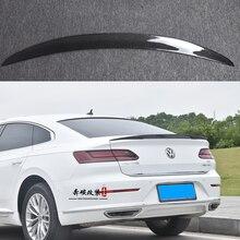 цена на P Style Carbon fiber rear roof spoiler lip wings for Volkswagen VW Passat CC Sandard  2019