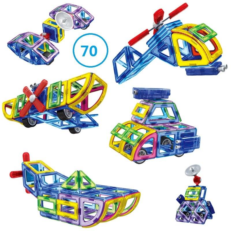 ФОТО Free Shipping 70pcs/lot 3D Magnetic Assembling Building Blocks DIY Learning & EducationBricks Toys for Children Christmas Gift
