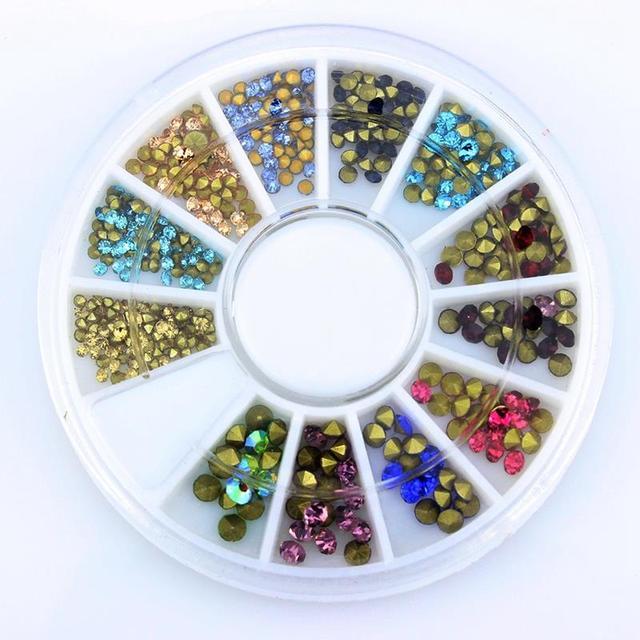 Смешанный Цвет маникюра Стразы для ногтей AB Блеск DIY Кристалл Подвески 3D ногтей украшения ZP191 ювелирные изделия