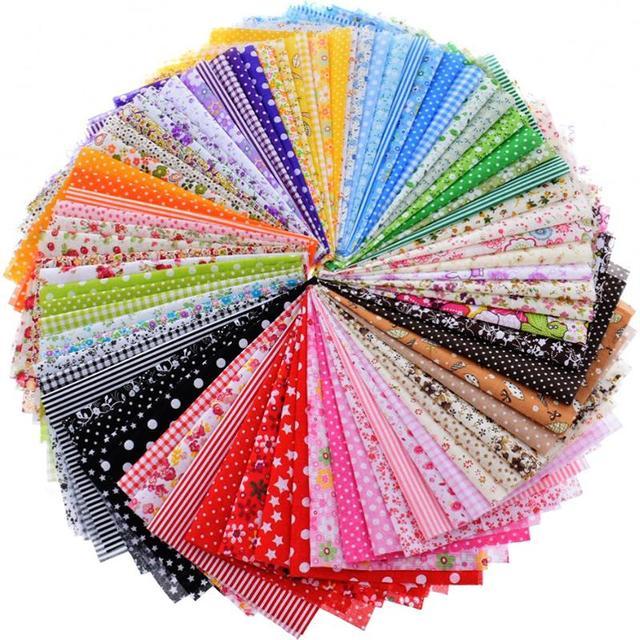 Random Thin Cotton Fabric Patchwork For Sewing Scrapbooking Fat Quarters Tissue Quilt Pattern Needlework Scraps 80pcs 20x24cm