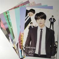 8*(42x29 см) Новые Bangtan мальчиков Jung Kook настенные плакаты Наклейки подарок
