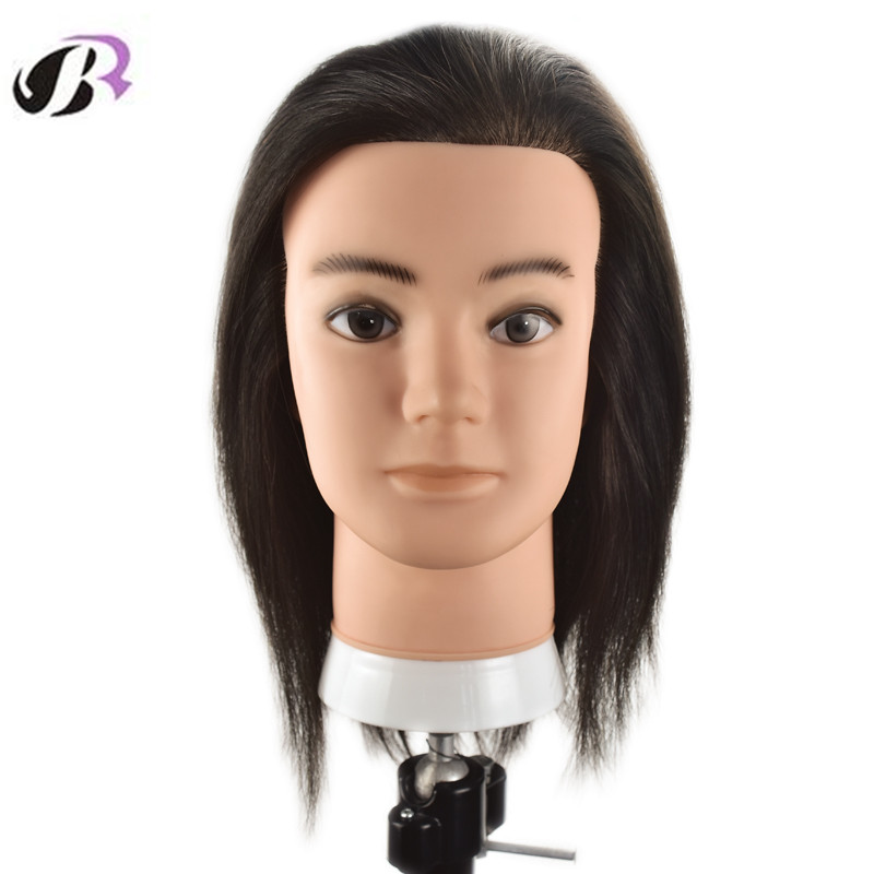 New Arrival Male 10 inch Mannequn Head With 100% Natural Human Hair Training Hairstyles Dummy Doll Head With Free Stand Holder