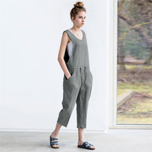 Women Playsuit Casual Loose Denim Overalls Jumpsuit Overalls For Women Summer Harem Jumpsuit Womens Rompers Dropshipping