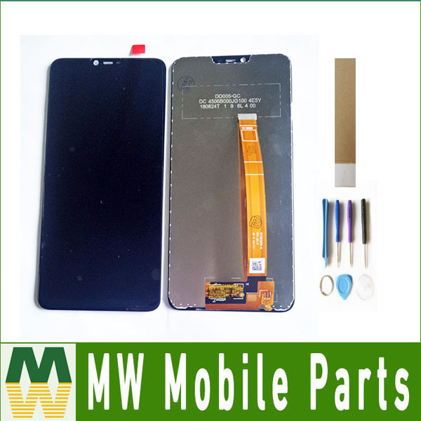 For <font><b>Oppo</b></font> A3S <font><b>A5</b></font> <font><b>LCD</b></font> Display+Touch Screen Sensor Digitizer Assembly Black Color with tape&tools image