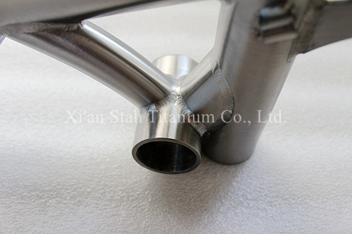 Titanium Ti-3AL/2.5V Folding Bicycle Frame + Rear Fork for 412mm Bike Wheel Glossy  / Matte Surfaces for Option