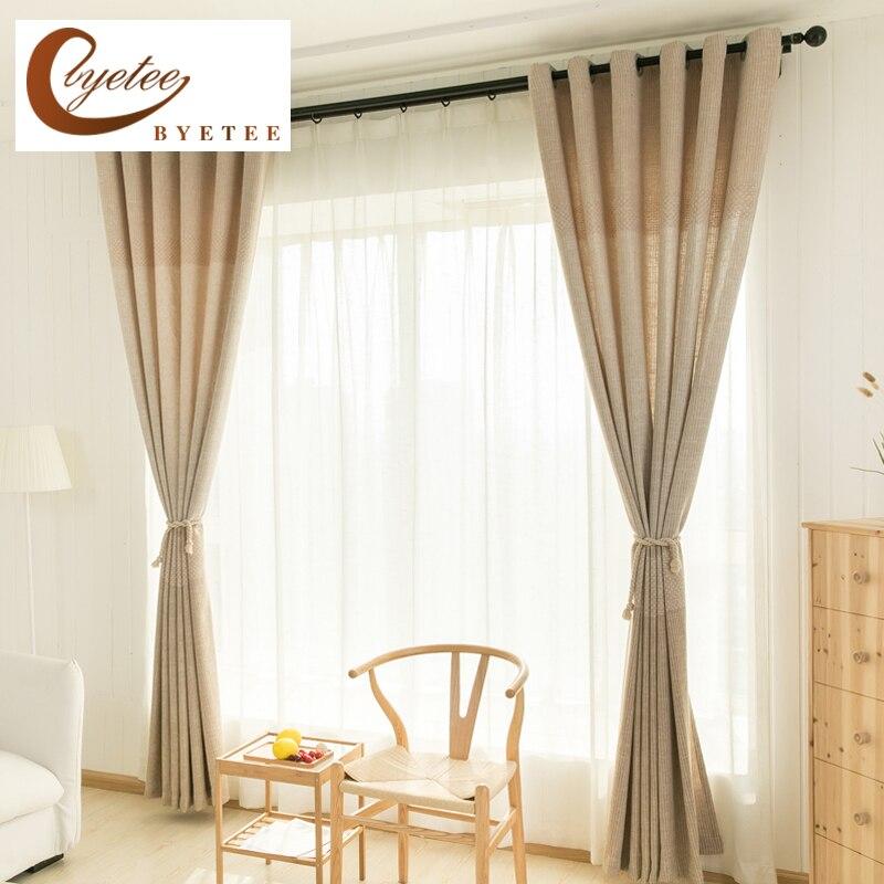 Kitchen Curtain Fabric: [byetee] Modern Blackout Kitchen Luxury Curtains Fabrics