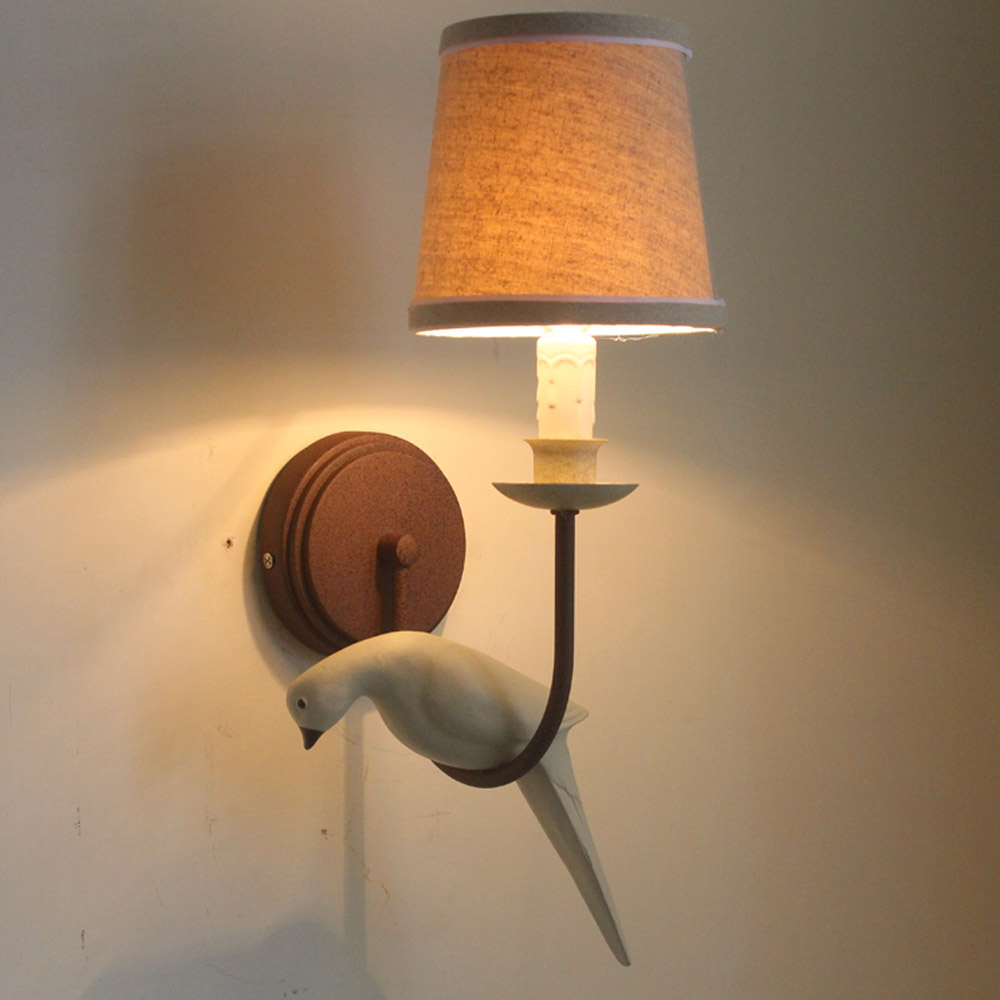 American Country Brief Wall Lamp Bird Wall Light Shape
