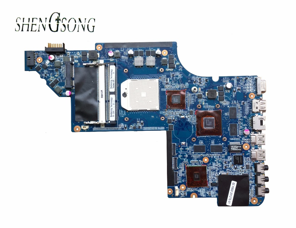 641576-001 Free Shipping board for HP pavilion DV7 DV7-6000 laptop motherboard RS880MD chipset HD6650/1G tested OK