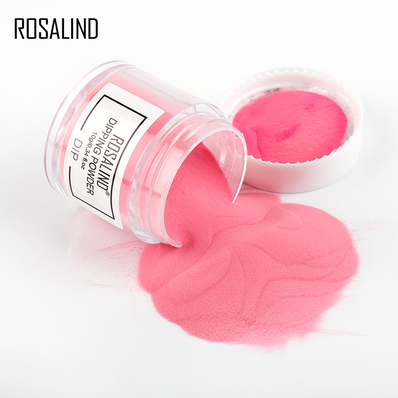 ROSALIND Dip Powder Set Nail Glitter French Nail Polish Holographic Manicure 10g Dry Chrome Pigment