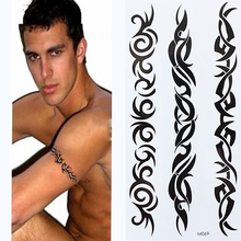 Waterproof Temporary Tattoo Sticker fire flame totem dragon hawk henna tatto stickers flash for women men