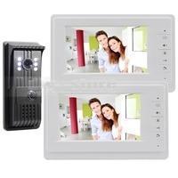 DIYSECUR Aluminium Camera 7 inch TFT LCD-KLEURENSCHERM Video Deurtelefoon Intercom Deurbel 1 Outdoor Camera 2 Indoor Monitor