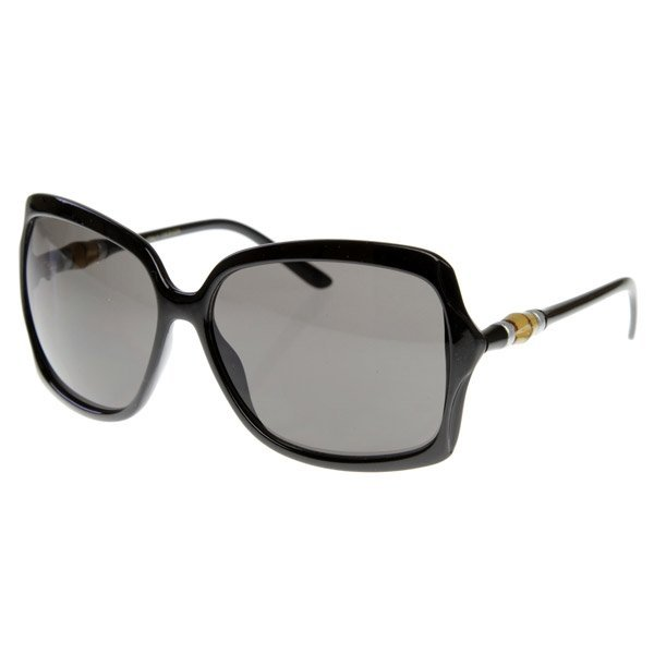 Designer Inspired Butterfly Womens Oversized Sunglasses w/ Bamboo Detail Arms