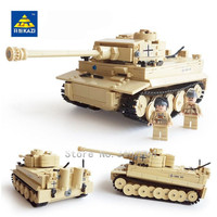 new 995Pcs German King Tiger Tank Building Blocks Sets Military WW2 Army Soldiers DIY Bricks Toys for Children
