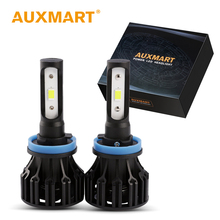 Auxmart S6 Car LED Headlight H11 H4 H7 Bulb 9006 HB4 9005 HB3 H13 Lamp SMD 70W Foco LED Head light Single High Low Beam 6500K