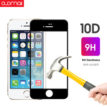 10D HD screen protective tempered glass For IPhone 8plus 7Plus 7 6 Protector film Full cover 9H Scratch Proof Ultra-thin