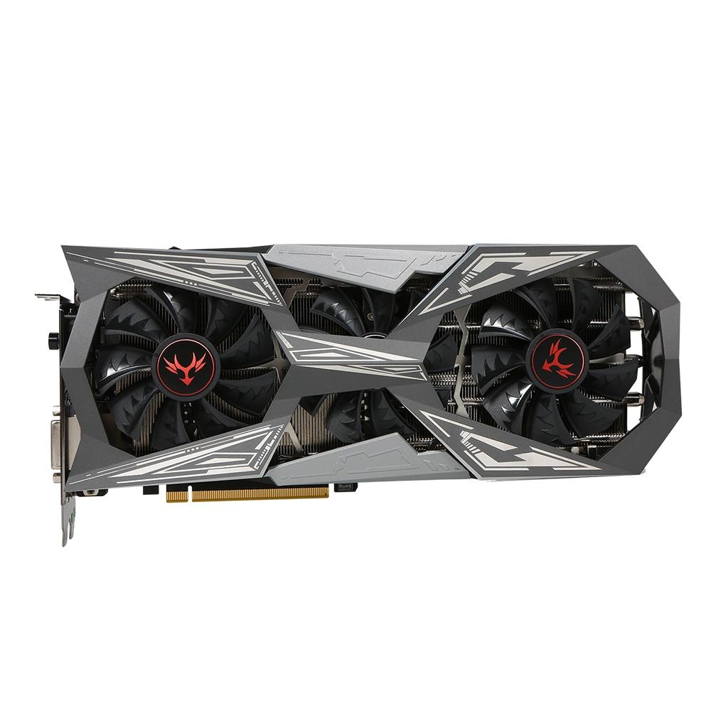 Colorful iGame NVIDIA GeForce GTX 1070Ti Vulcan X Top Graphics Card 1607/1683MHz 8G GDDR5 256bit PCI-E 3.0 SLI VR Ready цена