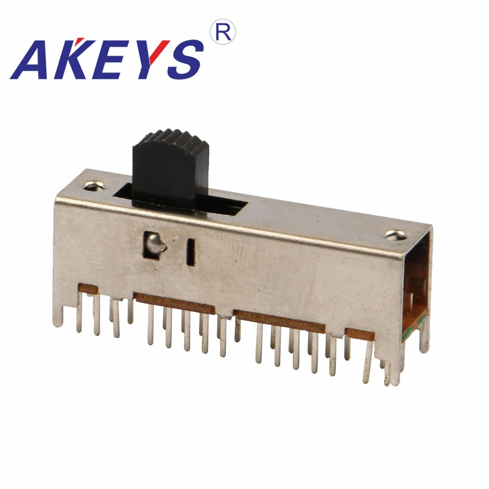 Ss-62d02 6p2t Six Pole Double Throw 2 Position Slide Switch 18 Pin Dip Type With 4 Fixed Pin Handle Heights Can Be Customized Switches