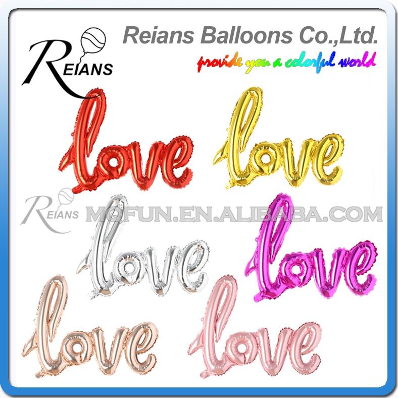 Wholesales 200pcs REIANS LOVE letter Foil Balloon Romantic Mylar Balloons for Valentin s Day Engagement Wedding