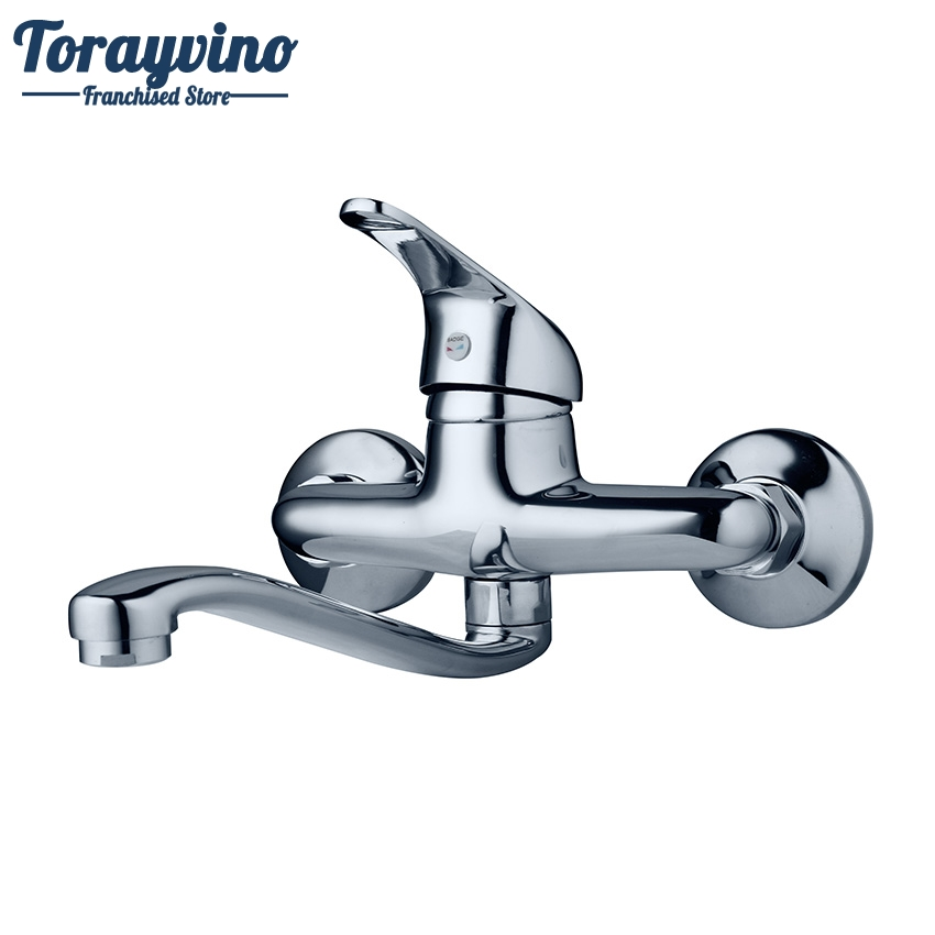 Torayvino Bathroom Faucet Wall Mounted Chrome Brass Faucet Bathroom Basin Sink Tap Hot Cold Water Mixer Faucet torayvino superior quality bathroom faucet chrome polished wall mounted hot cold water mixer excellent pretty shower faucet