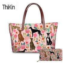 THIKIN Top-handle Bags For Ladies Greyhounds Pirnt Handbag