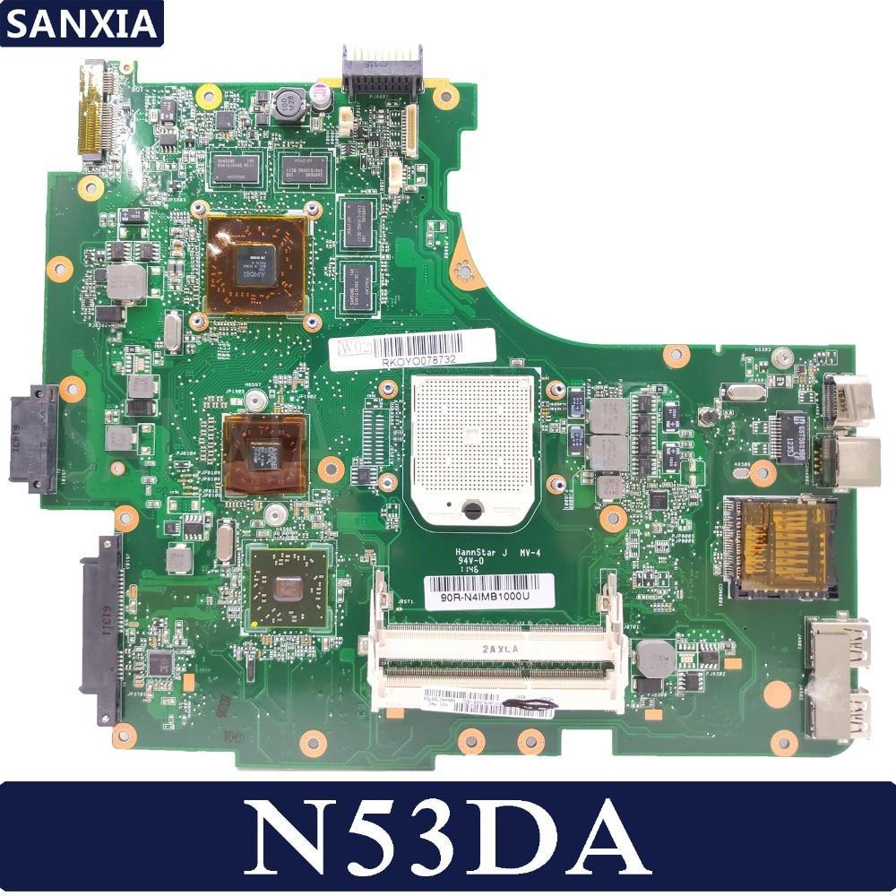 KEFU N53DA Laptop Motherboard For ASUS N53DA N53D N53 Test Original Mainboard