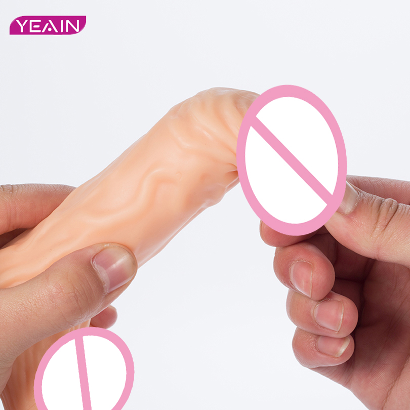 YEAIN Medical Silicone G-Spot Flirting vibrator dildo sex toys for woman Powerful huge horse dildo big penis for sex products electric heating penis silicone realistic big dildo vibrator sex toys for woman lifelike huge dick foreskin usb charging