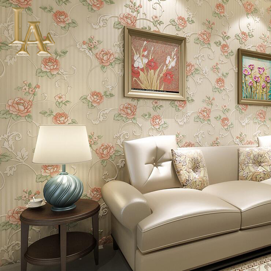 Vintage Luxury Bedroom Decor Background Floral Wall Paper
