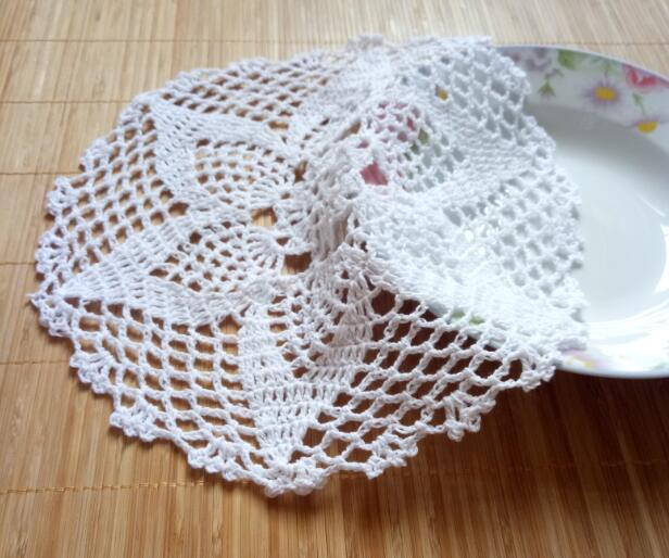 Hot Lace Round Cotton Table Place Mat Crochet Coffee Placemat Pad