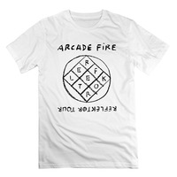 Mode Drôle Tops T-shirts Mens Arcade Fire Reflektor Réveiller Le Subburbs Marque Vêtements Hommes t shirt