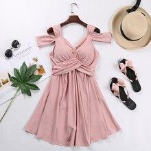 Swimwear Women Swimsuit Chest Hot Spring Korean Version New Style Joint Dress Plain Thin And Covered Body Girl