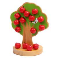 Árvore Da Apple Jogo Da Família de madeira Casa de Jogo Crianças Brinquedos Educativos Montessori Contagem Aritmética Brinquedos frete grátis